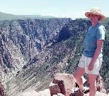 Angela at the Black Canyon of the Gunnison